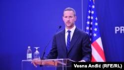 Генеральный директор Международной финансовой корпорации развития США (DFC) Адам Бойлер в Белграде. 22 сентября 2020 года.