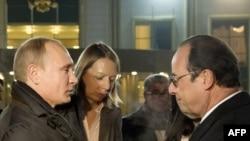 Президент России Владимир Путин и президент Франции Франсуа Олланд во время встречи в Москве 6 декабря 2014 года