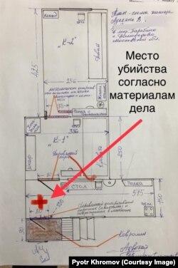 Схема жилища Виктора Лукьяна