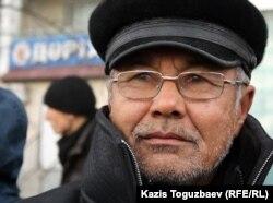 Один из протестующих на площади в Актау, уволенный нефтяник по имени Галым. Актау, 21 декабря 2011 года.