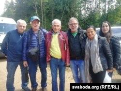 Нашчадкі ўдзельнікаў атраду Бельскага падчас візыту ў Беларусь