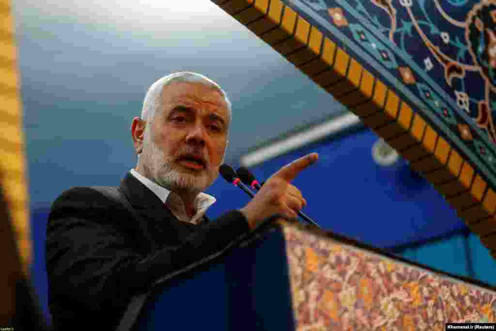 Hamas leader Ismail Haniyeh from the Gaza Strip traveled to Tehran to attend Qasem Soleimani's funeral. As leader of Iran's elite Quds Force, Soleimani was instrumental in the spread of Iranian influence across the Middle East.