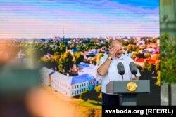 Аляксандар Лукашэнка ў Горадні, 22 жніўня