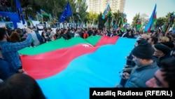 Оппозиционный митинг в Баку, 7 октября 2017 года