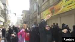 Сириядағы билікке қарсы шеру. Дамаск, 8 шілде 2011 жыл. (Көрнекі сурет)