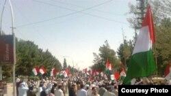 Pakistan -- Quetta Pashtoonkhwa Map protest against loadshading and Baluchistan budget, 22Jun2011