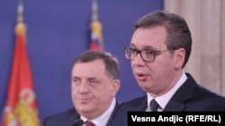 Milorad Dodik i Aleksandar Vučić, Beograd