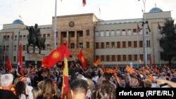 Protestat në Shkup, 2 maj