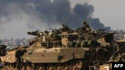 نمایی از یک تانک ارتش اسرائیل (عکس از آرشیو)
