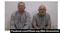 Григорій Цуркану (ліворуч) і Роман Заболотний в полоні угрупування «Ісламська держава»