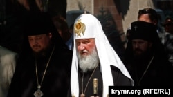 Patriarch Kirill, the head of the Russian Orthodox Church (file photo)