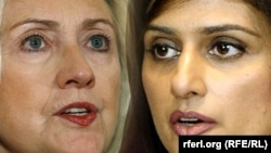 U.S. Secretary of State Hillary Clinton and Pakistani Foreign Minister Hina Rabbani Khar