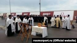 Церемонія освячення лайнера
