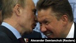 Президент Росії Володимир Путін та голова «Газпрому» Олексій Міллер