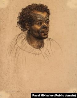 A Maori man with a moko