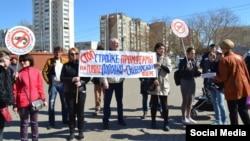 Крымчане протестуют против строительства креветочной фермы