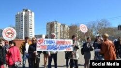 Кримчани протестують проти будівництва креветкової ферми