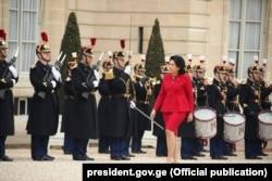 Президент Зурабишвили назвала встречу с президентом Макроном «Встречей требований»