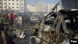 Місце терактів на території Сайєда-Зейнаб, околиці Дамаска, 31 січня 2016 року