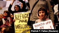 Protesti na aerodromu u Los Anđelesu nakon prve Trumpove uredbe o zabrani ulaska