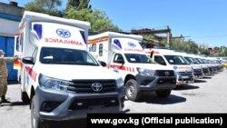 Машины скорой помощи в Бишкеке.