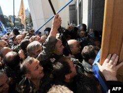 Під час «штурму» Верховної Ради, 20 вересня 2011 року