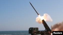 Запуск ракеты в Северной Корее. Иллюстративное фото.