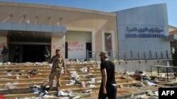Блокпост Баб эль-Хава на границе с Турцией, захваченный сирийскими повстанцами