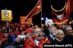 Македония, Скопье, 30 сентября 2018 года, акция противников переименования страны