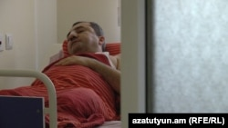 Armenia -- Air Armenia director Arsen Avetissian in hospital, Yerevan, 17Aug2015