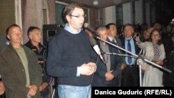 Aleksandar Vučić sa radnicima FAP-a u Priboju