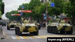 Репетиція військового параду до 9 травня в Сімферополі, 7 травня 2019 року