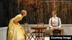 Сцена из нью-йоркской посатновки пьесы Тургенева