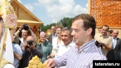 Дмитрий Медведев на празднике сабантуй в Татарстане
