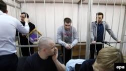 Судење на уапсените за немирите на Плоштадот Болотнаја во Москва во 2012 година.