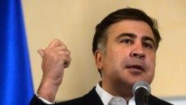 Former Georgian President Mikheil Saakashvili in December