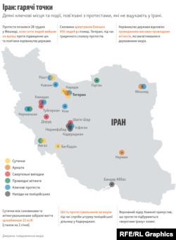 Протести в Ірані (графіка)