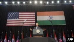Հնդկաստան - ԱՄՆ-ի նախագահ Բարաք Օբաման ելույթ է ունենում Նյու Դելիում, 27-ը հունվարի, 2015թ․