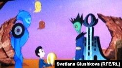 "Кадр из мультфильма ""Байтерек"". Астана, 1 июля 2011 года."