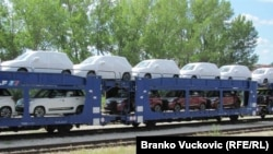 Izvoz automobila Fiata iz Kragujevca