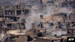 Пострадавшие при бомбардировках районы Алеппо (архивное фото)