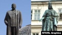 Герои разных народов. Памятники Сталину и Карлу IV