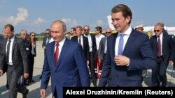 Sebastian Kurz və Rusiya Prezidenti Vladimir Putin Avstriyada, avqust, 2018-ci il