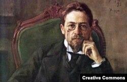 Антон Павлович Чехов. Портрет работы Осипа Браза, 1898