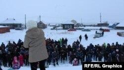 Татарский народный сход в одной из сибирских деревень