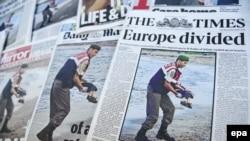 Naslovne fotografije britanskih dnevnih listova