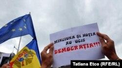 La protestul din 1 iulie, Chișinău