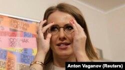 Российская телеведущая Ксения Собчак, заявившая о намерении баллотироваться на пост президента.
