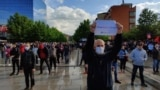 Kosovo: Vetevendosje held a protest in Prishtina.