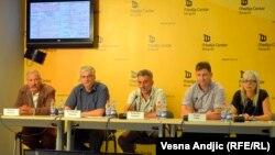 Predstavnici opština Srebrenica i Bratunac u Beogradu, 3. septembar 2013.
